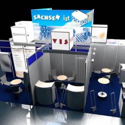 Firmengemeinschaftsstand Messe Fachpack 3D-Visualisierung