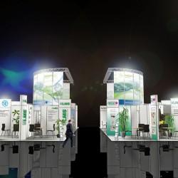 Firmengemeinschaftsstand Zuliefermarkt Sachsen 3D-Visualisierung
