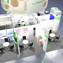 3D Planung Firmengemeinschaftsstand Sachsen Messe Fachpack