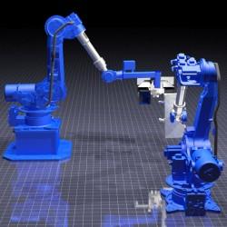 Visualisierung Roboteranlage