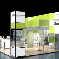 Hoftex Group Messe Techtextil 2015 3D Visualisierung